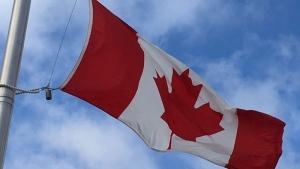 The Canadian flag flies on Citadel Hill in Halifax on Nov. 11, 2016. (George Reeves/CTV Atlantic)