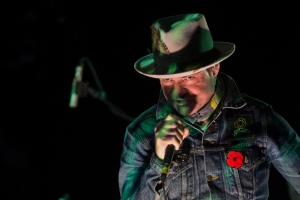 Gord Downie performs on stage in Toronto on Friday, Oct. 21, 2016. (The Canadian Press/Chris Young)