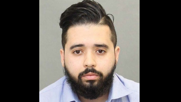 Nacim Hamouni, 25, of Quebec, is seen in this photograph provided by Toronto police.