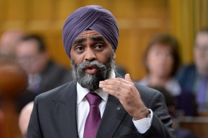 Defence Minister Harjit Sajjan answers a question during question period in the House of Commons on Parliament Hill in Ottawa on Tuesday, November 15, 2016. THE CANADIAN PRESS/Adrian Wyld