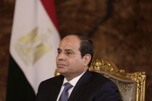 In this Sept. 20, 2014 file photo, Egyptian President Abdel-Fattah el-Sissi listens during an interview with The Associated Press at the presidential palace in Cairo. (AP Photo/Maya Alleruzzo, File)