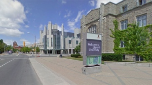 Queen's University is seen in this photo from Google streetview.