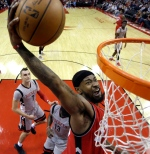Toronto Raptors' Terrence Ross goes up to dunk against the Houston Rockets during the second half of an NBA basketball game Wednesday, Nov. 23, 2016, in Houston. (AP Photo/David J. Phillip)