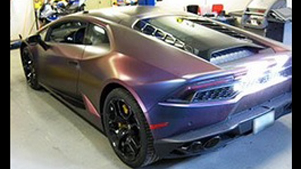 A 2016 Lamborghini Huracan recovered as part of Project Cyclone. (York Regional Police)