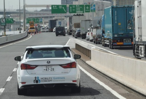 Toyota Motor Corp., automated driving test vehicle enters a highway on-ramp in Tokyo, Tuesday, Oct. 6, 2015. THE CANADIAN PRESS/AP, Koji Sasahara