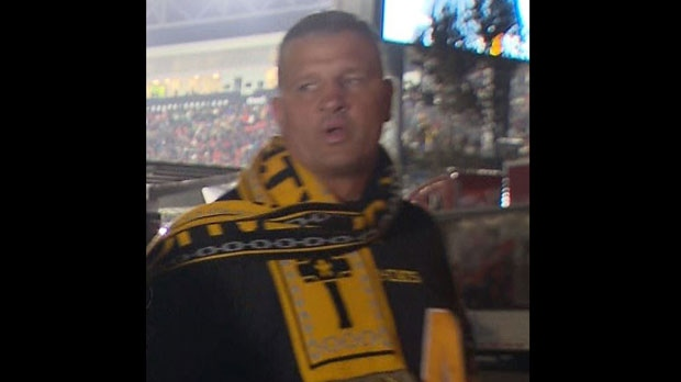 Toronto police have released this security camera image of a suspect wanted in connection with a sexual assault at BMO Field on Sunday, Nov. 27, 2016.