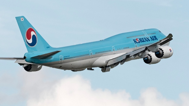 A Korean Air Boeing 747 (747-8) wide-body jetliner takes off from Vancouver International Airport, Richmond, B.C., September 18, 2016. THE CANADIAN PRESS IMAGES/Bayne Stanley
