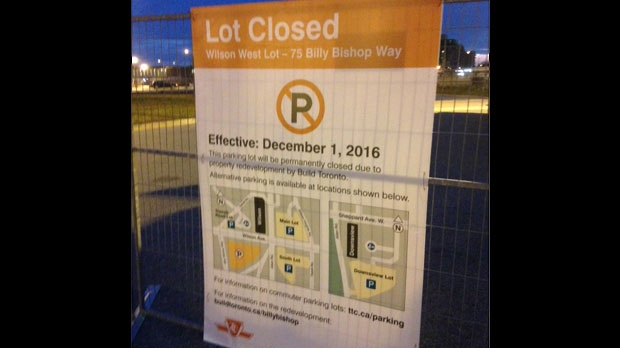 The closure of a parking lot at Wilson Station has upset some drivers who commute into the city for work. (Cam Woolley/ CP24)