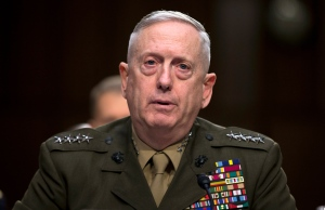 In this March 5, 2013, file photo, then-Marine Gen. James Mattis, commander, U.S. Central Command, testifies on Capitol Hill in Washington. President-elect Donald Trump says he will nominate retired Gen. James Mattis to lead the Defense Department.(AP Photo/Evan Vucci, File)