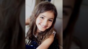Layla Sabry, 9, is described as white, about four-foot-two, with a thin build, brown hair, and brown eyes.