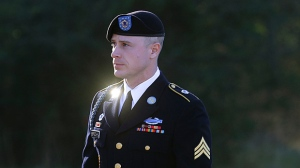 In this Jan. 12, 2016, file photo, Army Sgt. Bowe Bergdahl arrives for a pretrial hearing at Fort Bragg, N.C. (AP / Ted Richardson)