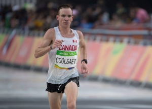Canada's Reid Coolsaet competes in the marathon at the Olympic games in Rio de Janeiro, Brazil, Sunday, August 21, 2016. Coolsaet finished 23rd. THE CANADIAN PRESS/HO - COC- Jason Ransom