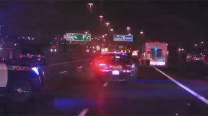 Police are investigating after a man was struck and killed on Highway 401 near Keele Street overnight.