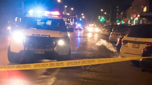Police respond to a shooting in the area od Donlands Avenue and Plains Road Wednesday December 8, 2016. (Evangelo Sipsas /Submitted)