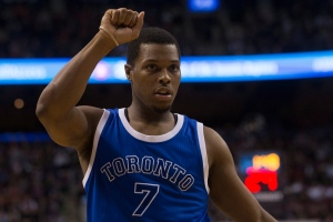 Toronto Raptors' Kyle Lowry gestures for the ball to be returned from the crowd during second half NBA basketball action against Minnesota Timberwolves in Toronto on Thursday, Dec. 8, 2016. (The Canadian Press/Chris Young)