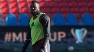 Toronto FC Jozy Altidore is pictured as he takes part in a training session, in Toronto on Friday, December 9, 2016, ahead of tomorrow's MLS Cup final against the Seattle Sounders. THE CANADIAN PRESS/Chris Young