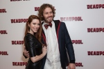 Actor TJ Miller, right, and his partner Kate Miller pose for photographers upon arrival at a fan screening of the film 'Deadpool', in central London on Thursday, Oct. 28, 2016. (Grant Pollard/Invision/AP)