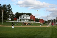 In this file photo from Oct. 2, 2014, teams play at the Field of Dreams during a fall tournament in Dyersville, Iowa. (Dave Kettering/Telegraph Herald via AP)