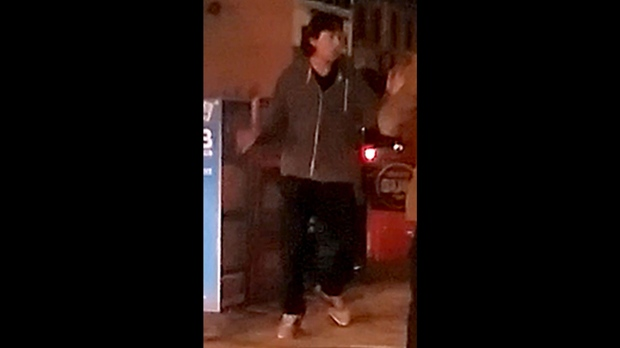 A suspect in an apparent hate-motivated assault in the Entertainment District is shown. (Toronto police)
