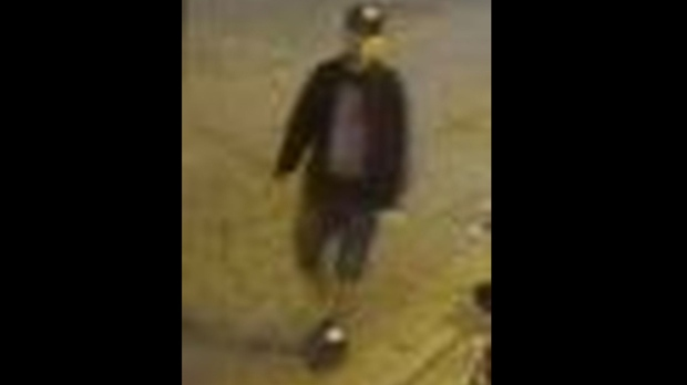 A suspect in a hate-motivated assault in the city's Entertainment District on Oct. 7 is shown in a surveillance camera image. (Toronto police)