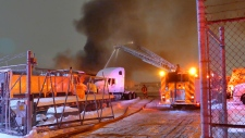 Mississauga, fire, tractor-trailer