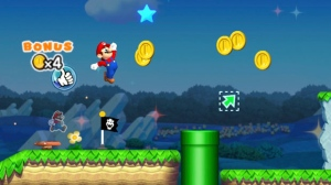 This image provided by Nintendo shows a screenshot from the game 'Super Mario Run,' which the gaming giant released for the iPhone on Dec. 15, 2016.  (Nintendo via AP)