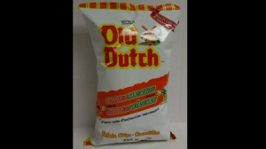 Old Dutch brand cheddar and sour cream potato chips are seen in this image provided by the Canadian Food Inspection Agency.