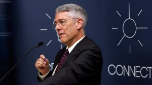 CRTC Chairman Jean-Pierre Blais holds a news conference to announce a decision on basic telecommunications service in Canada, Wednesday December 21, 2016 in Gatineau, Que. THE CANADIAN PRESS/Fred Chartrand