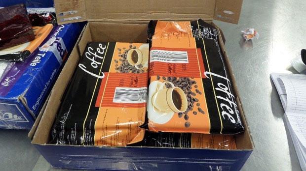 coffee, shipment, opium, CBSA
