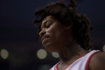 Toronto Raptors Brazilian centre Lucas Nogueira is pictured during first half NBA basketball action against Brooklyn Nets in Toronto on Tuesday, Dec. 20, 2016. (The Canadian Press/Chris Young)