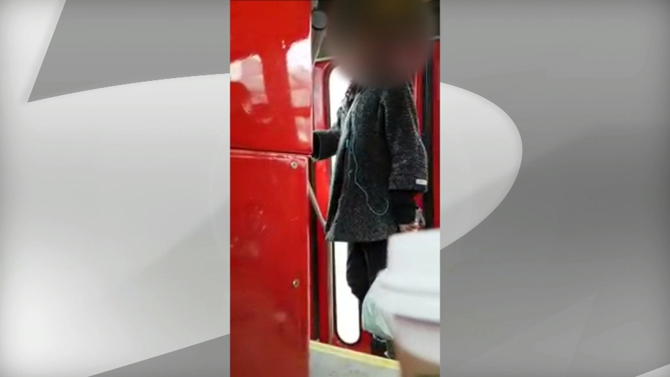 A woman fights with a streetcar driver in a fare dispute posted to YouTube. (HarryHood96 /YouTube)