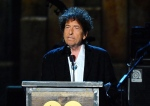 FILE - In this Feb. 6, 2015 file photo, Bob Dylan accepts the 2015 MusiCares Person of the Year award at the 2015 MusiCares Person of the Year show in Los Angeles. (Photo by Vince Bucci/Invision/AP, File)