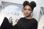 "Janelle Monae attends a special screening of ""Hidden Figures"" on Wednesday, Jan. 4, 2017, in West Hollywood, Calif. (Photo by Richard Shotwell/Invision/AP)"