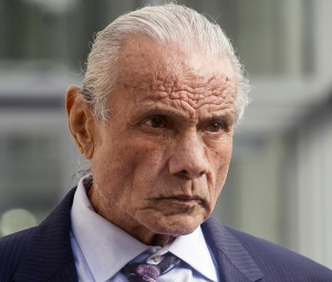 """In this Nov. 2, 2015, file photo, former professional wrestler Jimmy """"Superfly"""" Snuka leaves Lehigh County Courthouse in Allentown, Pa. (Michael Kubel/The Morning Call via AP, File)"""