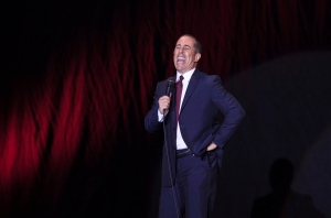 In this Dec. 19, 2015, file photo, Jerry Seinfeld performs at Menora Stadium in Tel Aviv, Israel. (AP Photo/Dan Balilty)