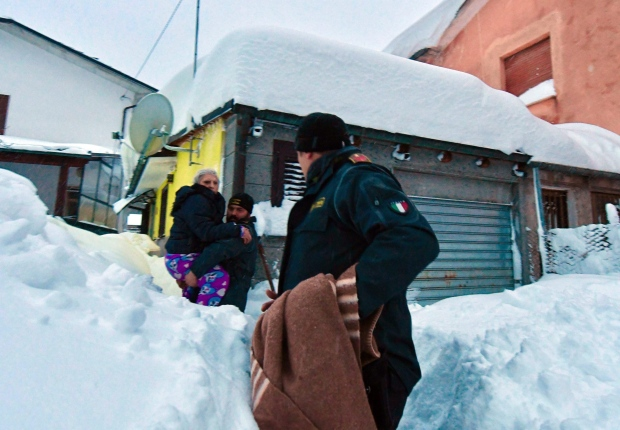 Avalanche Buries Italian Hotel, 30 People Missing