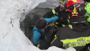 Italy avalanche survivors