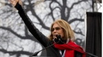 Writer and political activist, Gloria Steinem speaks to the crowd during the Women's March on Washington, Saturday, Jan. 21, 2017 in Washington. (AP Photo/Jose Luis Magana)