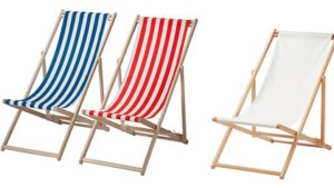Mysingso beach chairs are pictured in this image from the Ikea website.