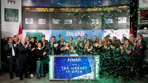 Staff from the Toronto-based eatery Freshii attend the opening of the market at the TSX in Toronto on Tuesday, Jan.31, 2017. Freshii is counting on growing consumer appetite for healthy food to power an ambitious growth plan that would see the restaurant chain more than triple the number of franchised locations within three years. THE CANADIAN PRESS/HO-Freshii