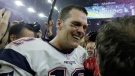New England Patriots' Tom Brady celebrates with head coach Bill Belichick after winning the NFL Super Bowl 51 football game against the Atlanta Falcons in overtime Sunday, Feb. 5, 2017, in Houston. The Patriots won 34-28. (AP Photo/David J. Phillip)