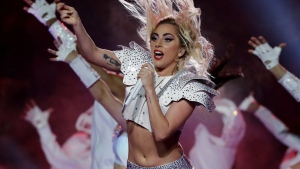 Singer Lady Gaga performs during the halftime show of the NFL Super Bowl 51 football game between the New England Patriots and the Atlanta Falcons, Sunday, Feb. 5, 2017, in Houston. (AP Photo / Matt Slocum)