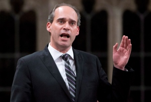NDP MP Guy Caron rises during question period in the House of Commons Wednesday April 30, 2014 in Ottawa. THE CANADIAN PRESS/Adrian Wyld