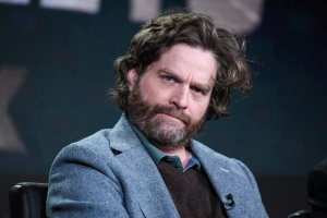 "Zach Galifianakis participates in the ""Baskets"" panel at the FX Networks Winter TCA on Saturday, Jan. 16, 2016, in Pasadena, Calif. A candidate for mayor in Saskatoon's municipal election today is getting a last-minute endorsement with a comedic twist. THE CANADIAN PRESS/AP-Photo by Richard Shotwell/Invision/AP"