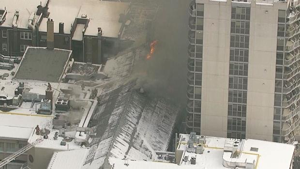 LIVE2: Five-alarm fire at Toronto building