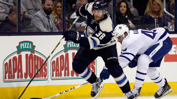 Foligno, Jenner lead Blue Jackets over Maple Leafs 5-2 | CP24.com