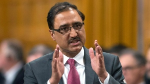 Minister of Infrastructure and Communities Amarjeet Sohi rises during Question Period in the House of Commons on Parliament Hill in Ottawa on Thursday, Feb. 16, 2017. (Justin Tang / THE CANADIAN PRESS)