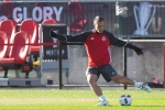 Toronto FC Benoit Cheyrou takes part in a training session, in Toronto on Friday, December 9, 2016, ahead of tomorrow's MLS Cup final against the Seattle Sounders. THE CANADIAN PRESS/Chris Young