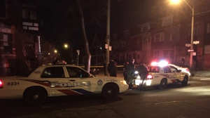 Police are investigating a stabbing near Huron and Dundas streets overnight. (Mike Nguyen/ CP24)