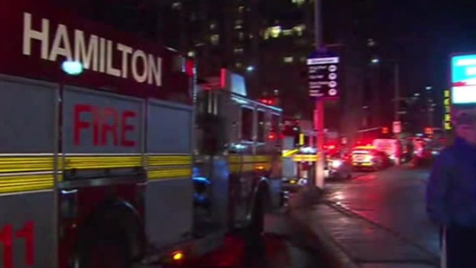 one person dead after fire at hamilton apartment building